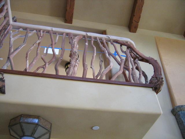Mountain Ranch eclectic-staircase