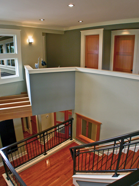 Mukilteo Style contemporary staircase