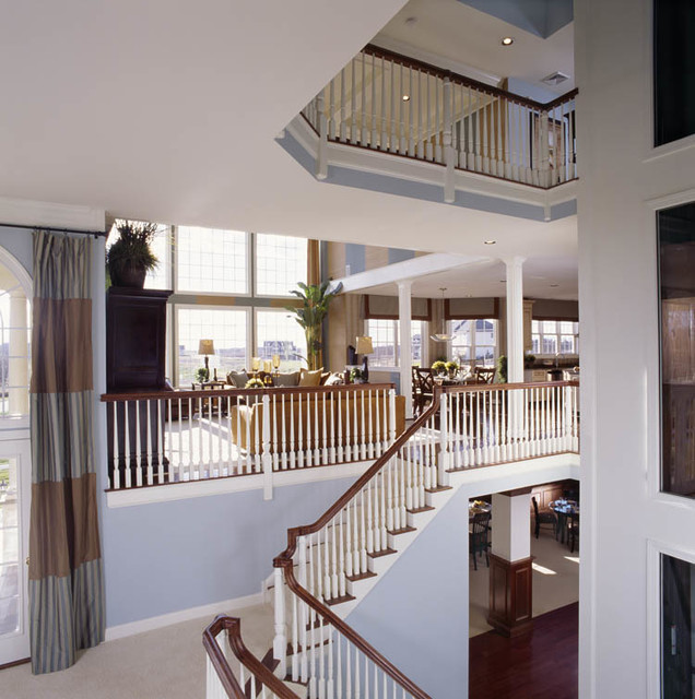 Multi Level Stairs And Balcony Traditional Staircase