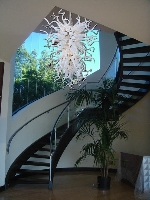 Murano glass lighting and chandeliers location shotsd modern murano glass lighting and chandeliers location shotsd modern staircase aloadofball Image collections