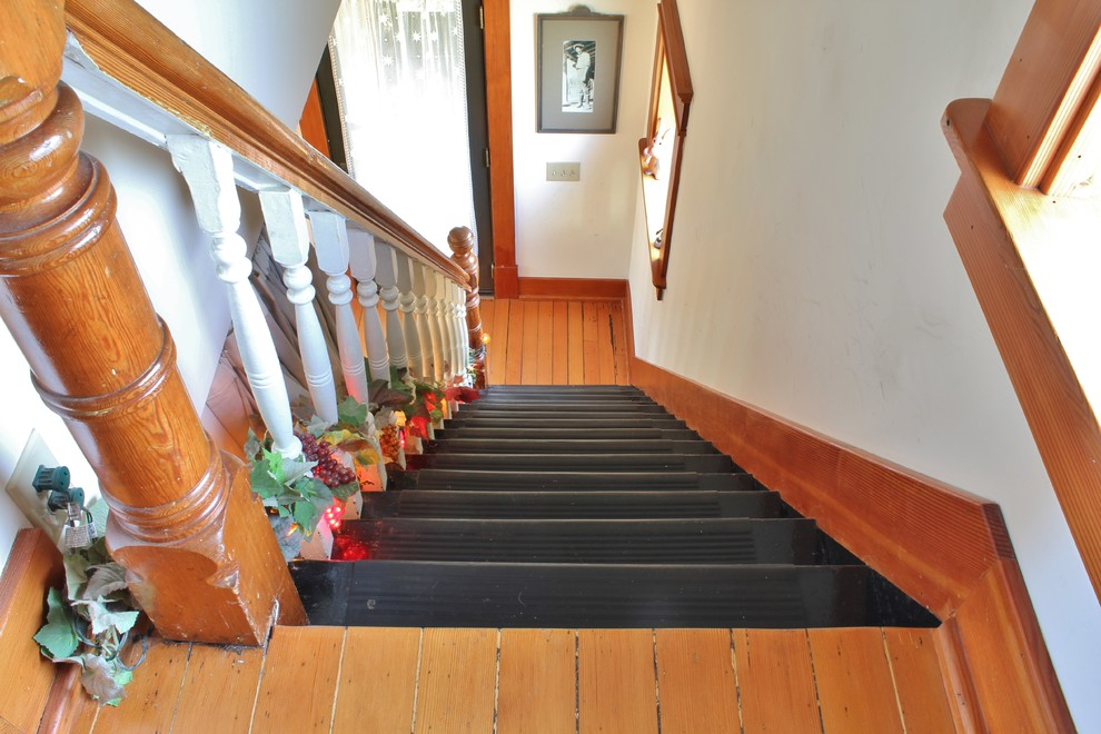 Inspiration for an eclectic staircase remodel in Seattle