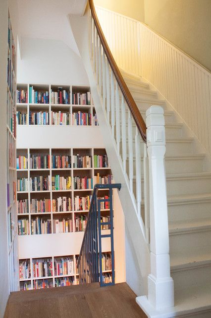 My Houzz: A 1920s Dutch Doctor's House gets new life... eclectic-staircase