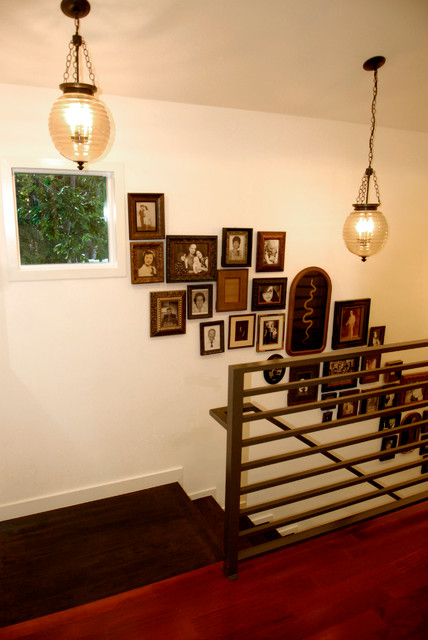 My Houzz: A Dream Home Grows From an Empty Austin Lot traditional-staircase