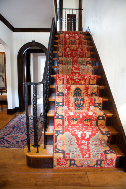 Eclectic Staircase by Tess Fine