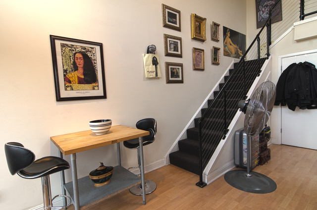 eclectic staircase by Alex Amend Photography