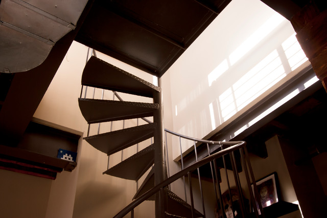 contemporary staircase by Chris A. Dorsey
