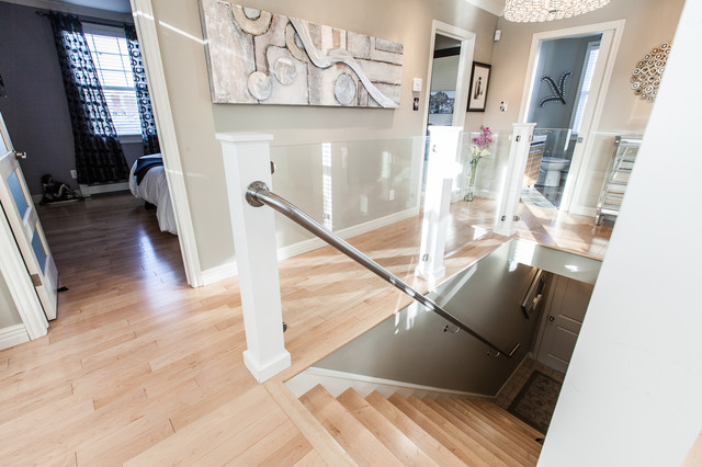 100 Best Corridors Stairs Lighting Images By John: My Houzz: Open Concept Apartment Above Retail In Downtown