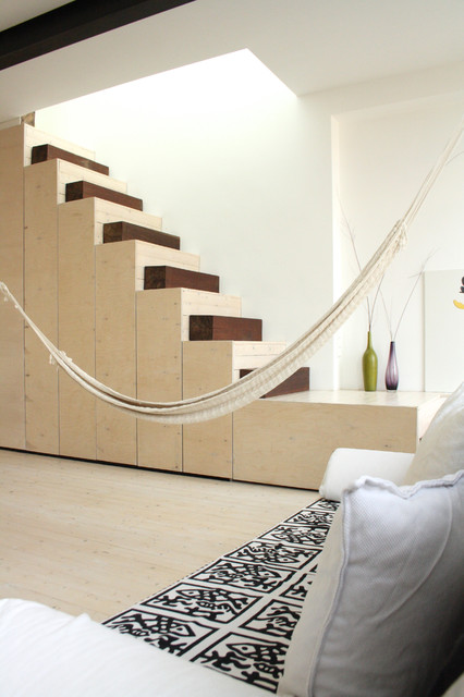 The home of Fabiana and Rocco modern-staircase