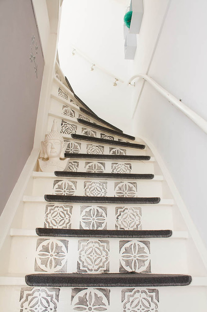 My Houzz: Revamped Flea Market Finds add personality to a Dutch home eclectic-staircase