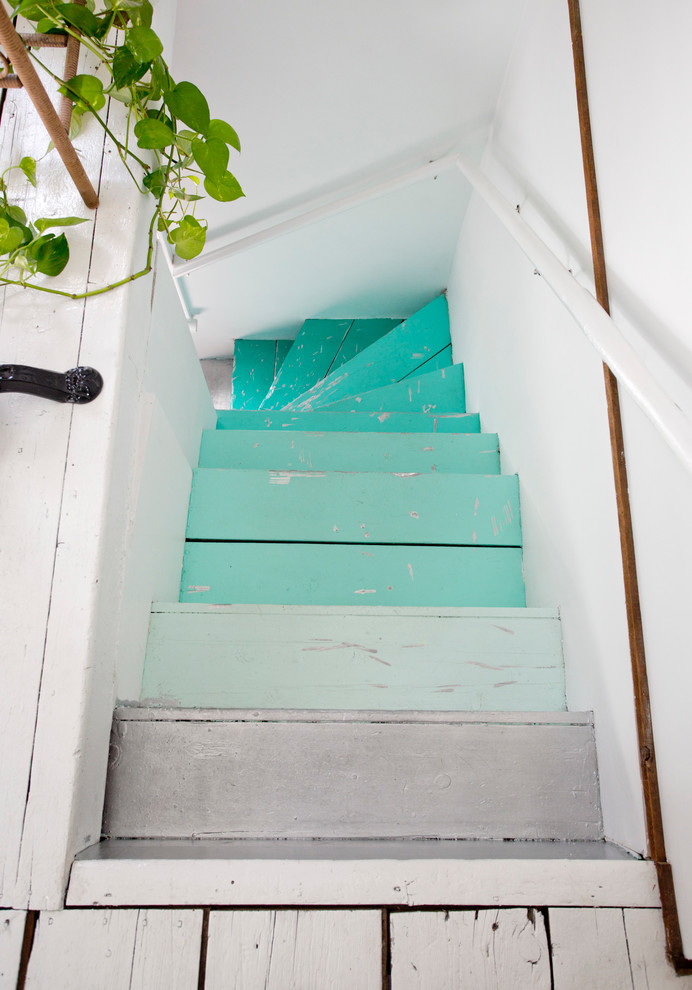 Staircase - eclectic staircase idea in Providence