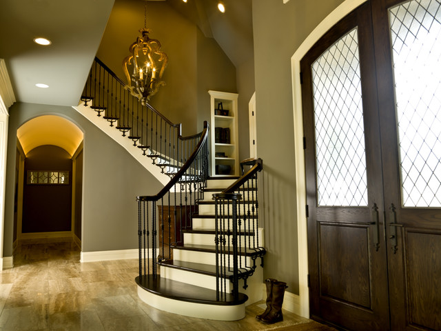 French Country Traditional Staircase Chicago By