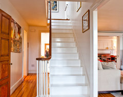 Historic Antique Federal-Style Becomes Bright and Roomy with R traditional-staircase