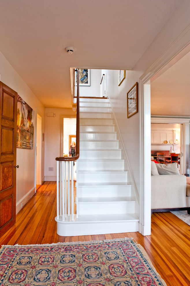 My Houzz Updated Federal Style In Massachusetts Traditional Staircase Boston By Mary Prince Photography