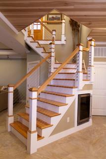 Narragansett Beach House Contemporary Staircase Salt