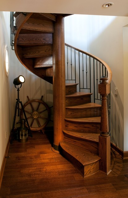 Nautical Spiral Eclectic Staircase Other Metro By