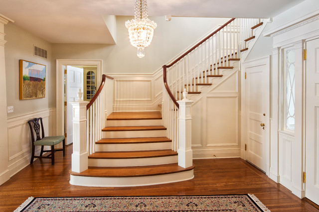 Neoclassical Home Traditional Staircase New York