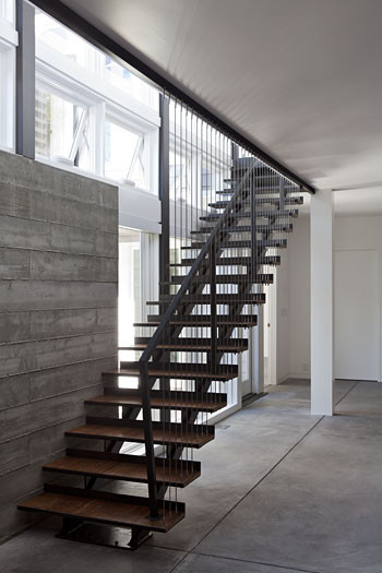 Net-Zero Energy Home modern staircase
