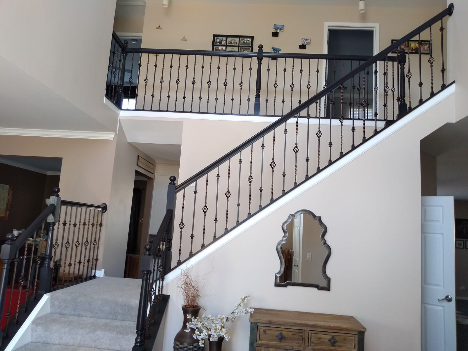 New Balusters and stained to match