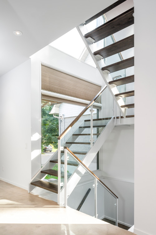 staircase paint design what type of white paint was he metal stair stringers