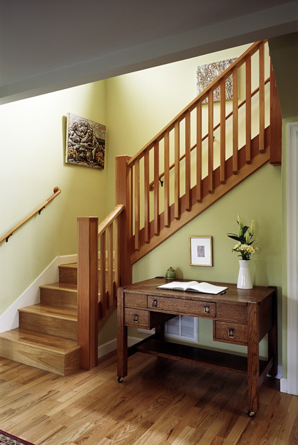 New front staircase craftsman-staircase