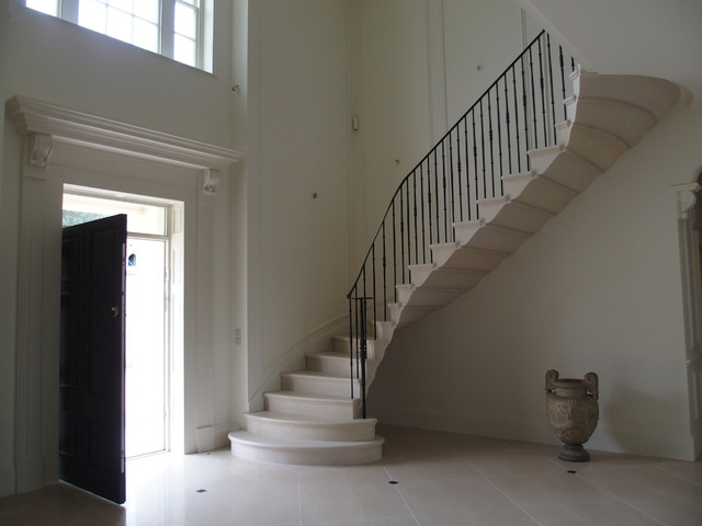 New georgian house traditional staircase east for Georgian staircase design