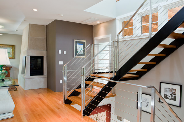 Contemporary Staircase by Scorpio Craftsmen Inc
