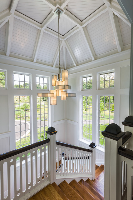 Foyer Roof Designs : New house wayne pa traditional staircase