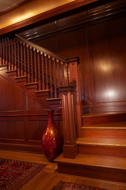 Foyer Room Jersey : New jersey residence mahogany foyer paneling and millwork