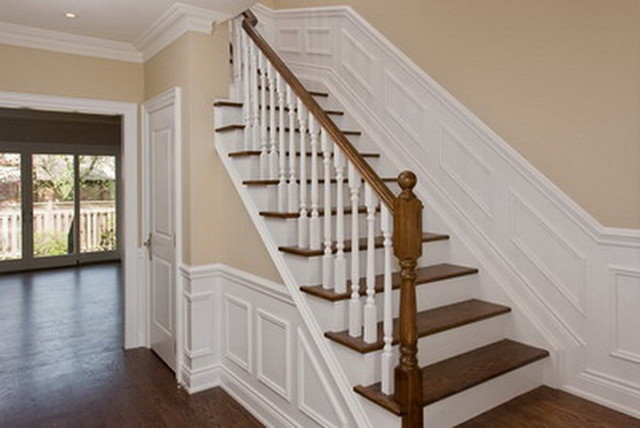New Stairway With Wainscoting Traditional Staircase