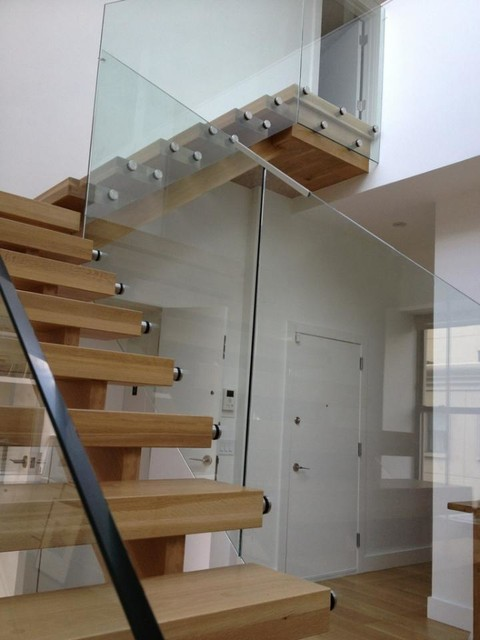 New york brooklyn ny modern staircase new york for Modern wood stairs