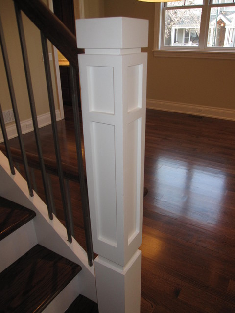 Newel Posts Modern Staircase Chicago By Follyn