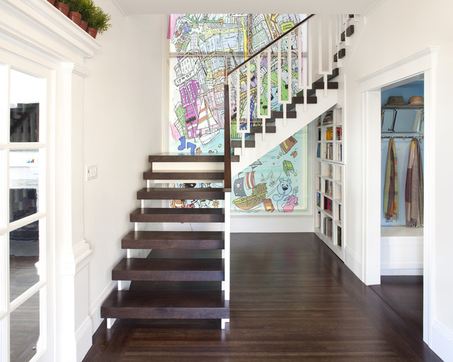 Entry Staircase contemporary-entry