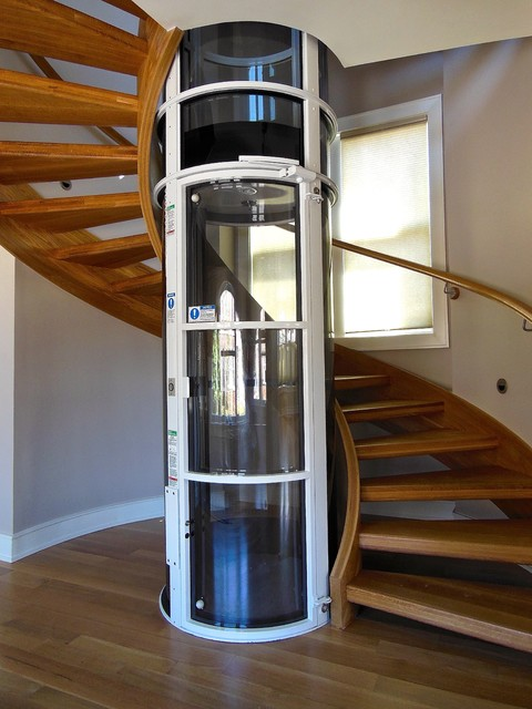 Superior Staircase Elevator #2: Norfolk Pneumatic Elevator Stairs Contemporary-staircase