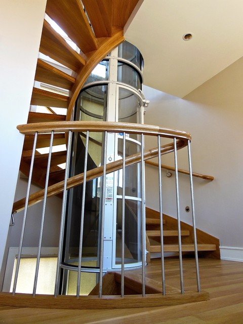 Norfolk Pneumatic Elevator Stairs Contemporary Staircase