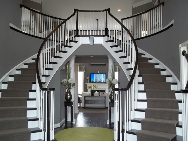 Northville traditional-staircase
