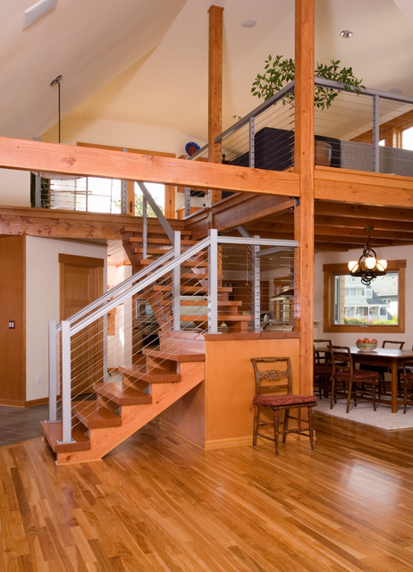 Woolworth Residence contemporary-staircase