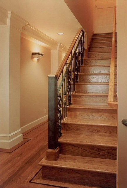 Not Your Typical Basement-Staircase traditional staircase