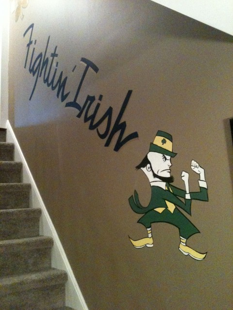 Notre Dame Man Cave Ideas : Notre dame football traditional staircase other by