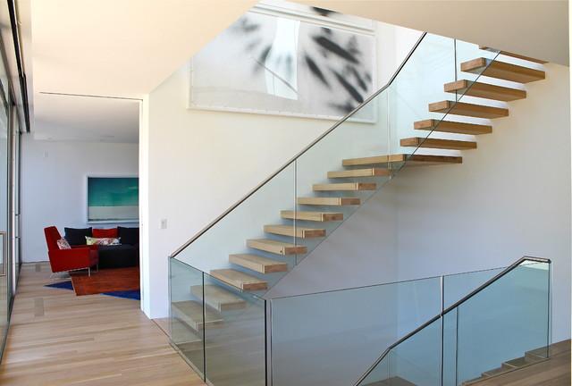 Noyack Bay Summer Home contemporary-staircase
