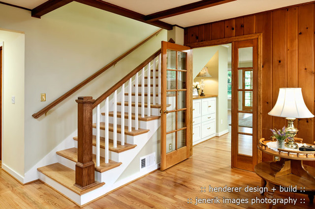 NW Corvallis Addition traditional-staircase