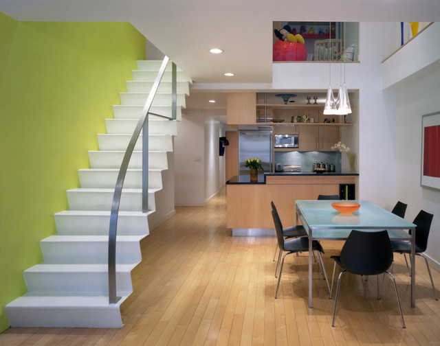 Staircase   Contemporary Straight Staircase Idea In New York