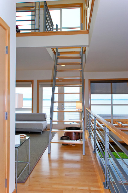 Ship Ladder To Loft. Beach Style Staircase