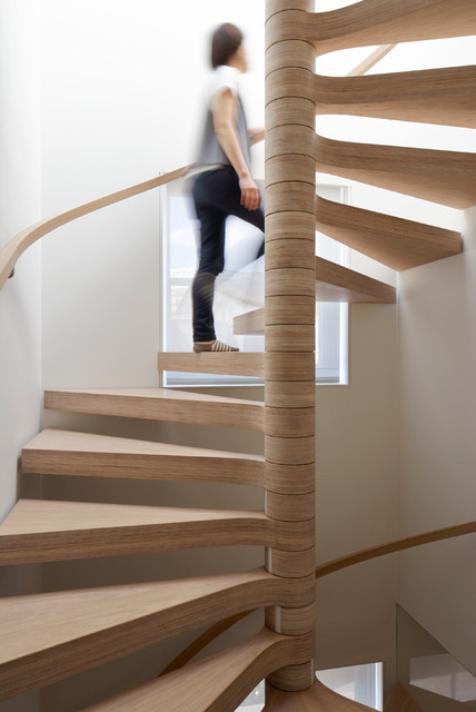 Oak Plywood Spiral Staircase Contemporary Staircase