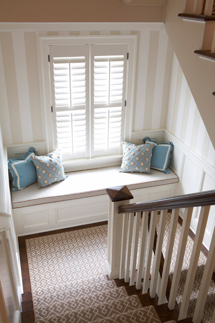 Old Greenwich Beach Cottage contemporary staircase