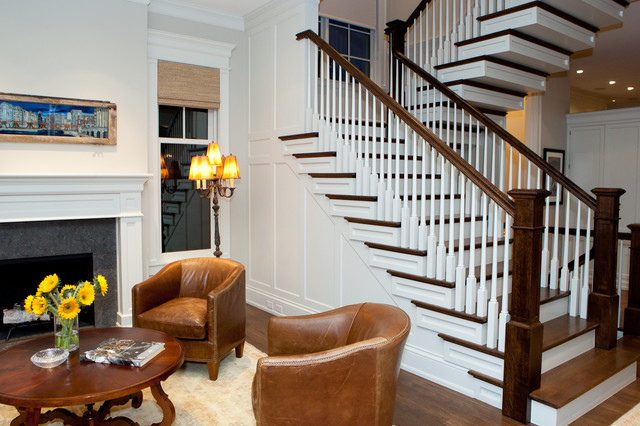 Old Irving Park Single-Family Home traditional-staircase
