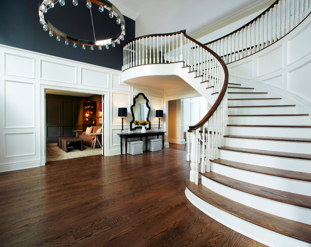Old Westbury Neoclassical Transitional Staircase New