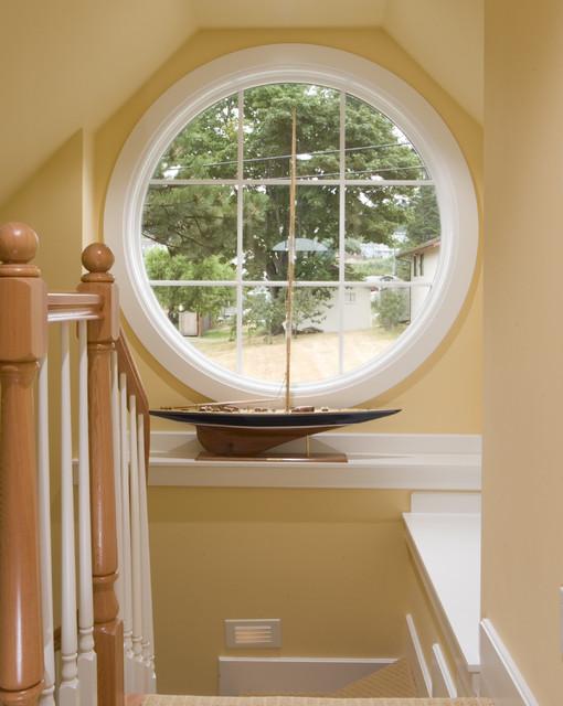 Round window in stair well for Window design round
