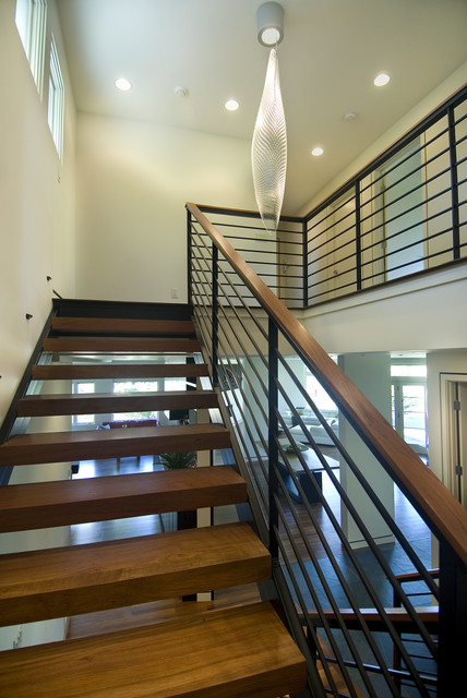 Modern Stairs Open Modern Stair  Modern  Staircase  Minneapolis White .