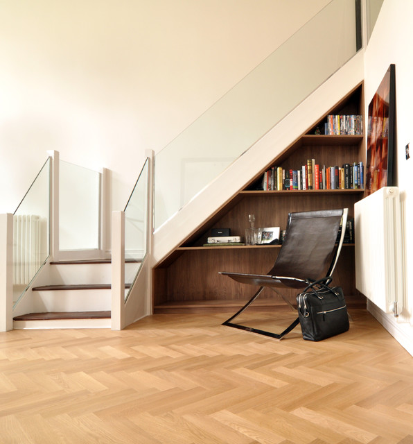 Lovely Open Plan Living Space Contemporary Staircase Part 12