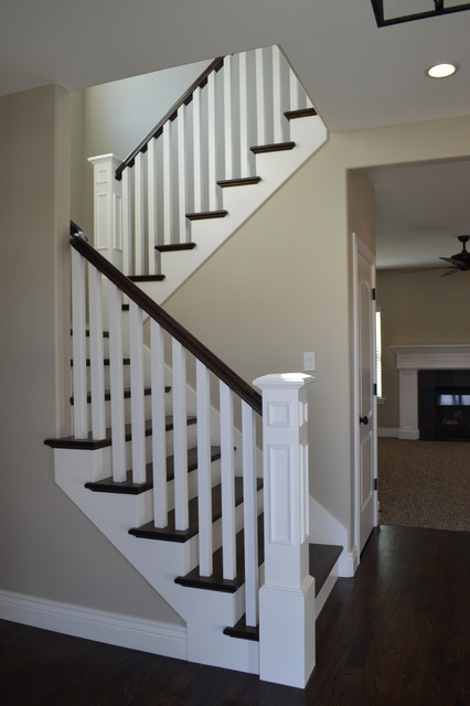Open Rail Option - Traditional - Staircase - Other - by ...